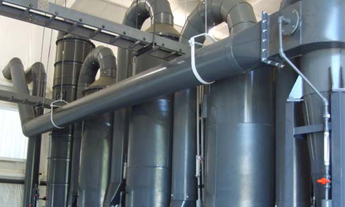 Case study for the exhaust/ fume scrubber system for removal of hydrochloric acid fumes